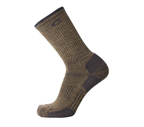 point6 Hiking Essential Medium Crew Sock - Earth Medium