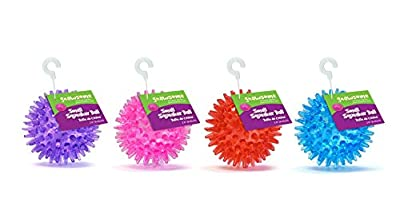 """Gnawsome Small Squeaker Ball Dog Toy, Small 2.5"""", Colors will vary"""