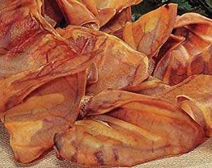 Pet Center DPCPES100 100-Pack Premium Smoked Pig Ear Chews for Dog, Large