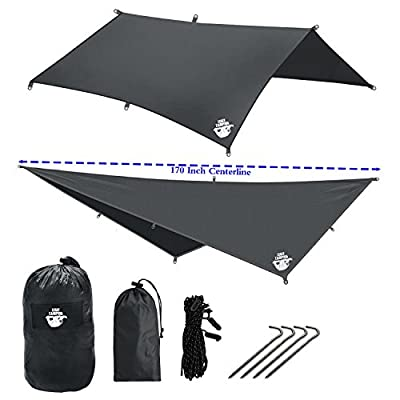 Legit Camping Rain Fly Camping Tarp Extra Large Hammock Tarp Fits Double Hammocks - Adventure in Any Weather - Great for Backpacking, Traveling, Hiking - XL 10' - Durable, Easy Set Up