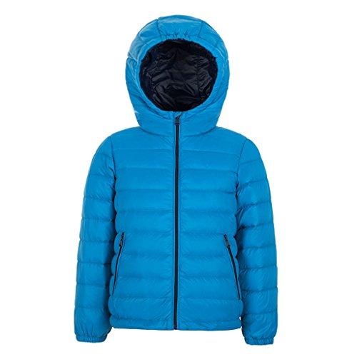 YISUMEI Unisex Down Jacket Thin Hoodie Winter Packable Blue 10