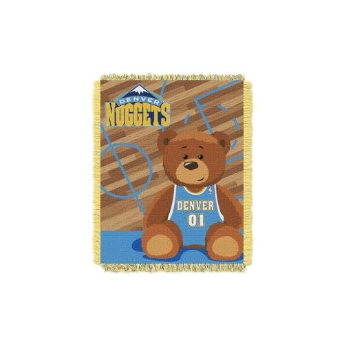 Baby Nuggets (NBA Denver Nuggets Half Court Woven Jacquard Baby Throw, 36