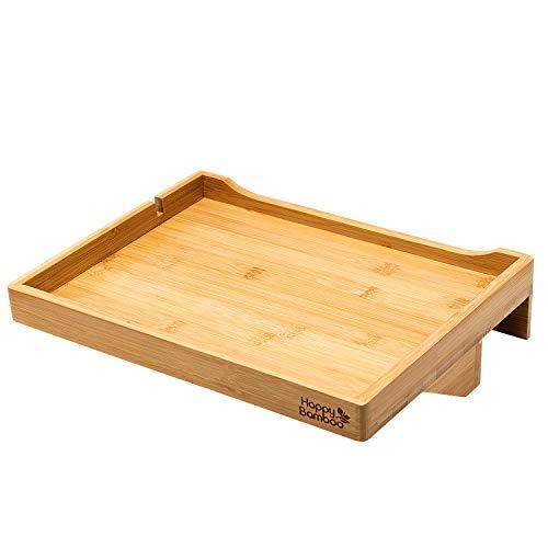 Happy Bamboo Bed Shelf | Bedside Shelf Wood Bed Shelf | Laptop Breakfast Table | Loft Modern Bed Shelf| Handy Caddy
