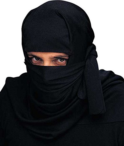Tiger Ninja Costume - Black Shadow Ninja Warrior Samurai Headwrap Costume Cowl