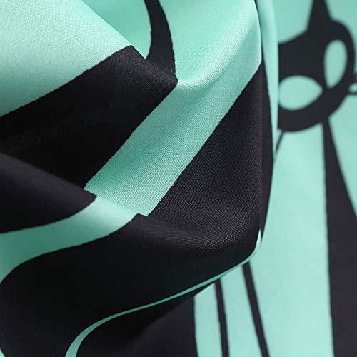 donna da maniche Chemisier Vestito Senza Retro Swing Stampato vestitini Vestito Clearance Vestiti estivi Festa Verde donna Gatto V Collo Sera Rawdah Sera 8pXY6qw