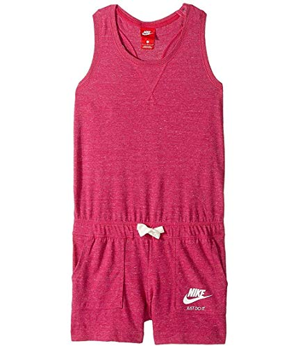 - Nike Kids Sportswear Vintage Romper Girls Binary Blue/Sail/Sail Girl's Jumpsuit Romper (XL)