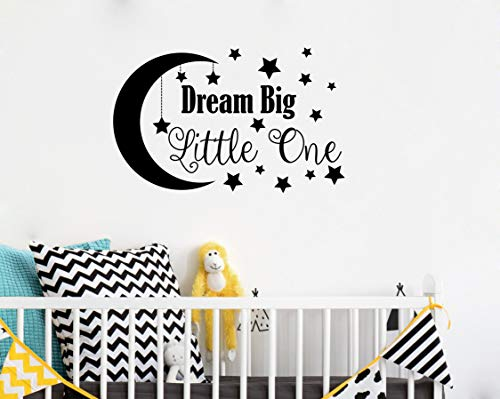 Wall Decal, Nursery Wall Decal, Nursery Decor, Nursery Wall Quote, Quote Decal, Removable Vinyl Wall Stickers for Baby Kids Boy Girl Bedroom Nursery Decor(A34) (Big, Black) ()