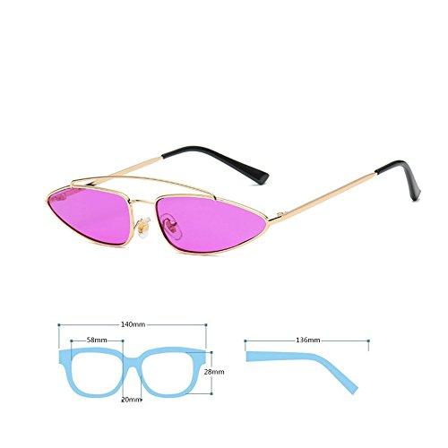 Sunglasses Gafas Style Inlefen Hombres Cat Retro Mod Purple Eye Vintage Moda Mujeres r6Onrv0