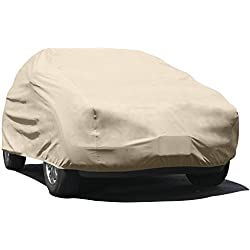 "Budge UA-3 Tan SUV fits SUVs up to 229"" SUV Cover, 4 Layer Reliable Weather Protection, Waterproof, Dustproof, UV Treated"