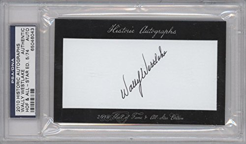 - Wally Westlake PSA/DNA Certified Auto AUTHENTICATED AUTHENTIC #5/74 (Baseball Card) 2010 Historic Autographs Cut Autographs Hall of Fame & All-Star Edition [Autographed] #WAWE