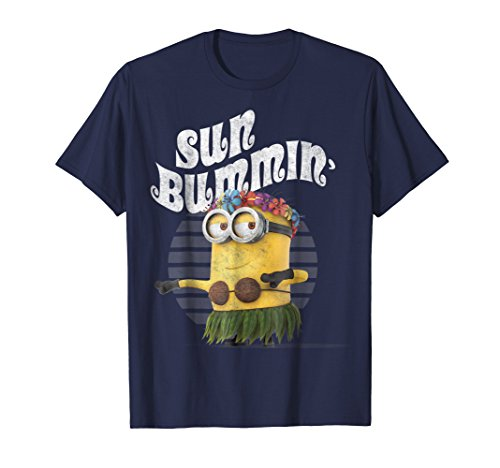 Despicable Me Minions Bob Sun Bummin Hula Graphic T-Shirt]()