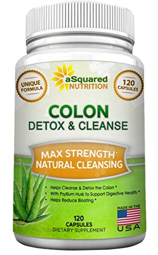 Pure Colon Cleanse for Weight Loss – 120 Capsules, Max Strength, Natural Colon Detox Cleanser, Colon Cleansing Diet…