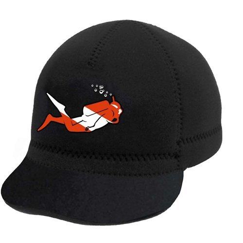 Innovative Scuba Squid Cap with Diver, Black -