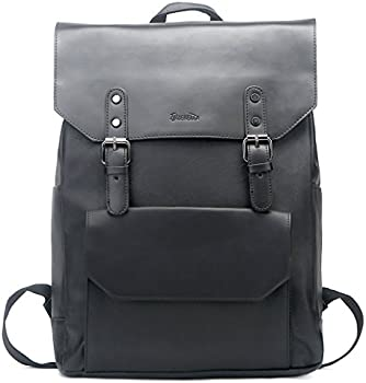 Zebella Unisex Vintage PU Leather Backpack