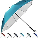 G4Free 62 Inch Automatic Open Golf Umbrella Sun Protection Large Oversize Windproof Waterproof