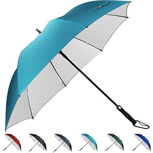 G4Free 62 Inch Automatic Open Golf Umbrella Sun Protection Large Oversize Windproof Waterproof Stick Umbrellas(Sky Blue)