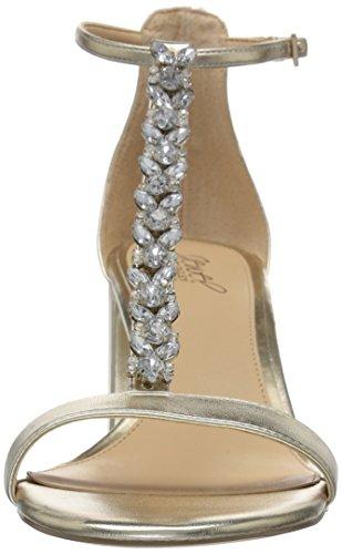 Jewel Women's Mischka Badgley Heeled Gold Lindsey Sandal PrqPxtgH