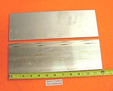 """1//8/"""" X 2/"""" ALUMINUM 6061 FLAT BAR 7/"""" long T6511 .125/"""" Plate New Mill Stock"""
