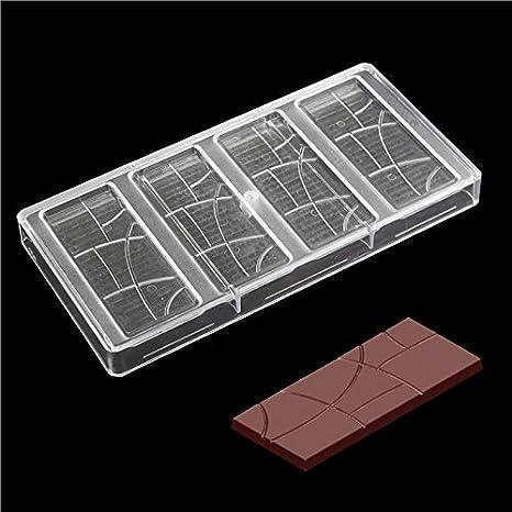 Baking Pastry Tools - Polycarbonate Plain Bar Chocolate Molde Fantasia Barras De Do - Mold.