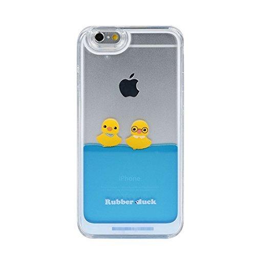 iPhone 6 Plus Case,Creative Design Liquid Floating Rubber Duck Hard Case for Apple iPhone 6 Plus 5.5 inch-Design B