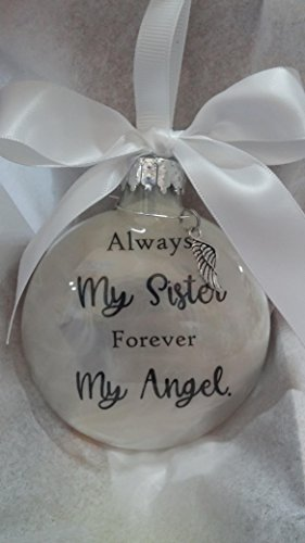 Sister Memorial Christmas Ornament Sympathy Gift w/ Angel Wing ()