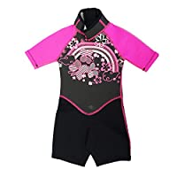 Kiddi Choice Kids 2.5mm Neoprene Short Sleeve Wetsuit Black/Pink, 4