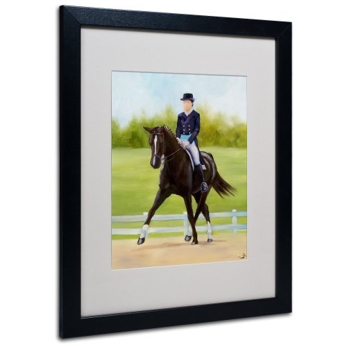 Michelle Moate Horse - Horse of Sport IX Matted Artwork by Michelle Moate with Black Frame, 16 by 20-Inch