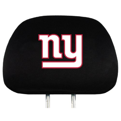 Team ProMark NFL New York Giants Head Rest Covers, (Giants Car Seat Cover)
