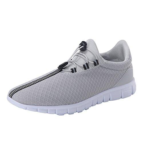 Laufende Schuhe der Männer arbeiten breathable Turnschuh-Maschen-weiche Sohle beiläufiges athletisches Leichtgewicht um Grau