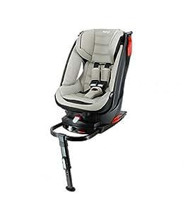 Migo - Asiento de coche con base giratoria Isofix para niños, 9 a 18 kg, color crema