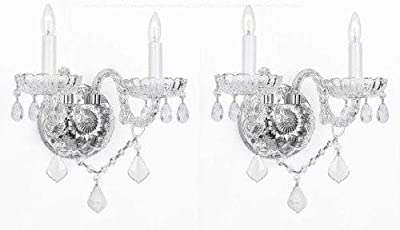 Set Of 2 Murano Venetian Style Crystal Wall Sconces Lighting!