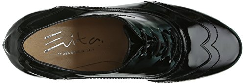Schwarz Evita stringate tacco Donna Shoes Schwarz Scarpe col Nero 0wC61q0