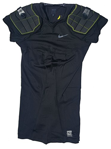 NIKE Men's Pro Combat Hyperstrong 3.0 2-Pad Football Shirt 626423-010 (Large-Tall) (Nike Foam Shoulder Pads)