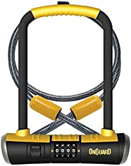 ONGUARD Bulldog Combination U-Lock Cable Combo, Black/Yellow