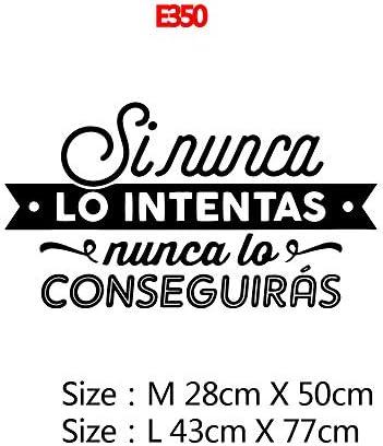 BGPOM muurstickers Spaanse zin Wall Art stickers voor kantoor kamer muur sticker vinyl behang poster muurschildering4Size L