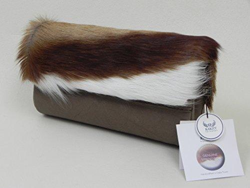 Springbock Fell Tasche von Rarity Handbags Sarah Clutch khaki