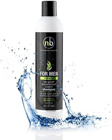 Nourish Beaute Hair Regrowth Shampoo for Men, Anti Hair Loss Shampoo, Vitamins Hair Growth Support Shampoo, Premium