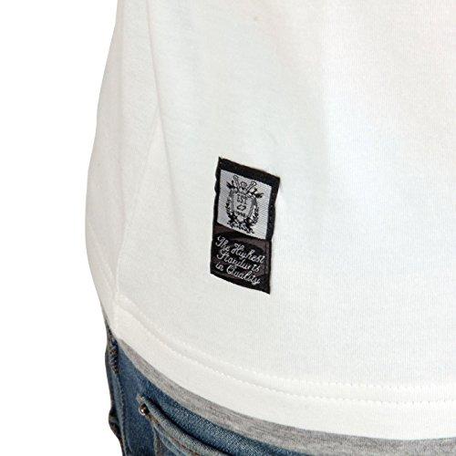 CARISMA Herren Kurzarm T-Shirt White 4029 Größe XL