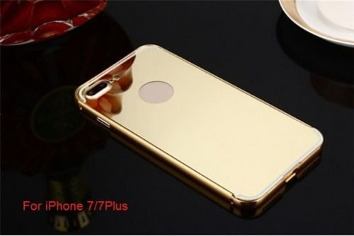 Apple iPhone 7/8 Mirror Case, Luxury Anti-Scratch Ultra Thin Mirror Metal Aluminum Frame Case for Apple iPhone 7/8 (Aluminum Mirror Gold)