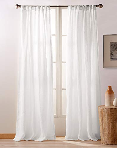 - DKNY Pure City Linen Rod Pocket/Back Tab Lined Curtain Panel Pair