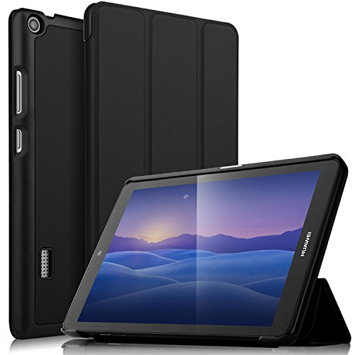 IVSO HUAWEI MediaPad T3 7.0 Case - Ultra Lightweight Slim Smart Cover Case-will only fit HUAWEI MediaPad T3 7.0 inch Tablet (Black) (Huawei Mediapad Case)
