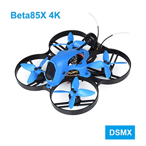 BETAFPV Beta85X 4K DSMX 4S Brushless Cine Whoop Quadcopter with F4 V2 FC BLHeli_32 16A ESC Tarsier 4K Camera OSD Smart Audio 1105 5000KV Motor XT30 Cable for Micro Whoop Drone FPV Racing