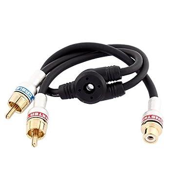 eDealMax Audio 1 RCA hembra a 2 RCA Divisor del adaptador Macho Cable de alambre de
