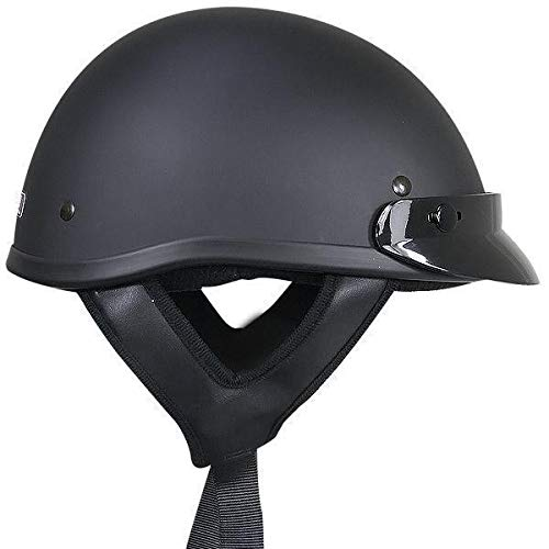 Outlaw T70 DOT Solid Flat Black Half Helmet - X-Large