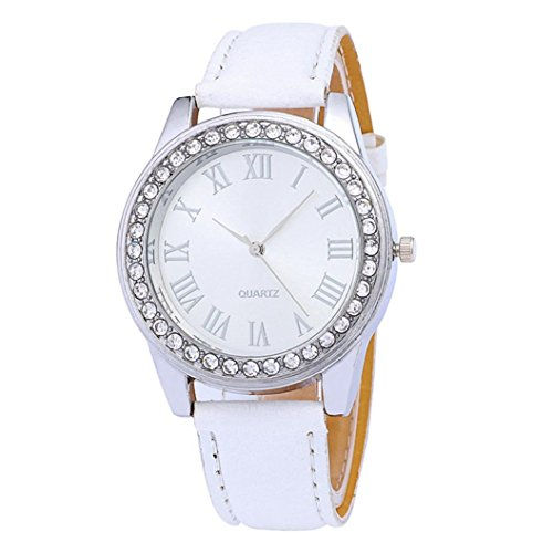 Perman Watches for Women, Fashion PU Leather Quartz Wrist Watch (White) (Iphone5 Glass Repair Kit White compare prices)