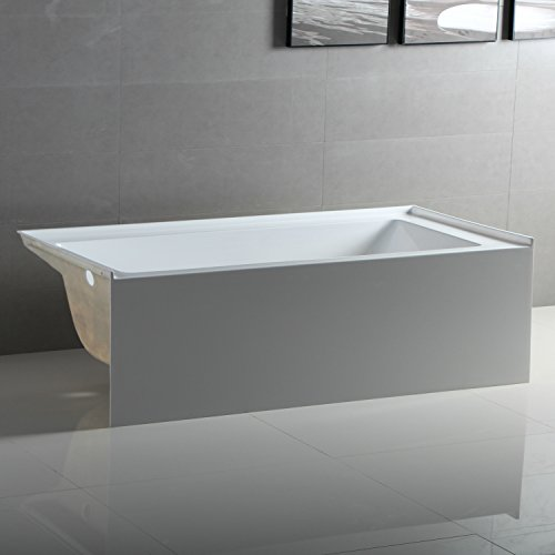 - Fine Fixtures Acrylic/Fiberglass Soaking Bathtub, Exclusive Small Size 54