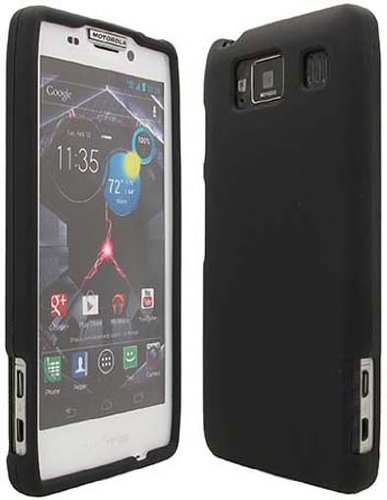 Black Rubberized Hard Case Cover for Motorola Droid RAZR HD / XT926