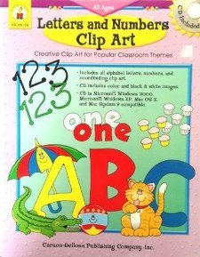 Letters and Numbers Clip Art (Creative Clip Art for Popular Classroom Themes (includes CD), CD104176)