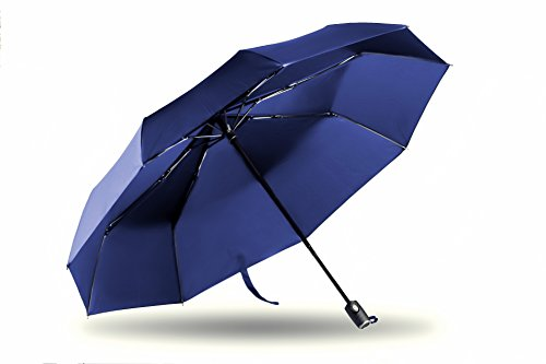 Ariestech Umbrella With Gift Case-Windproof Strong-Auto Open Close-Classic Navy Blue - Close Online