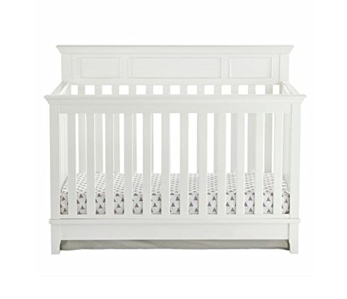 Kolcraft 4-in-1, Easy-to-Assemble, Harper Convertible Crib - Built-in Hardware, 3 Mattress Height Positions, White ()